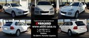 Аренда автомобиля Porsche Cayenn белого и черного цвета
