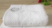 Махровое полотенце белое,  гостиничного типа