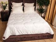 Одеяло кассетное,  белое,  гостиничного типа