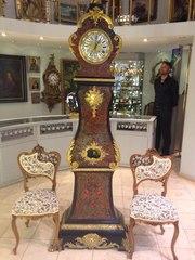 Французские напольные часы из панциря черепахи