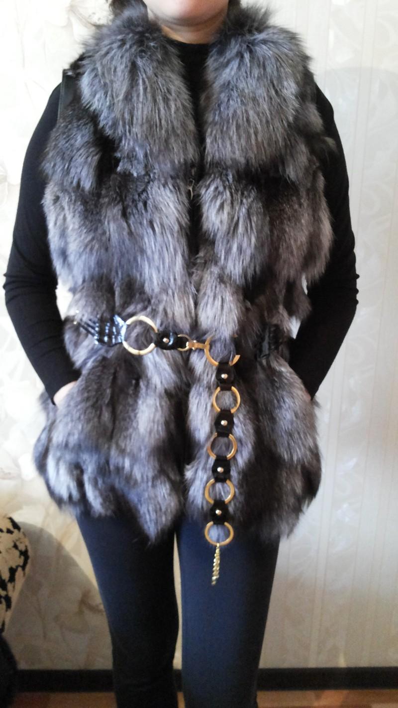 Продам меховую жилетку (чернобурка), prodam-mehovuju-zhiletku-chernoburka20141101-174905, Женская одежда, Астана