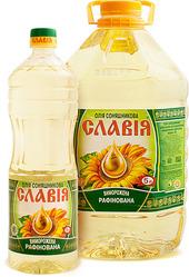 Бутилированная рафинированное масло СЛАВИЯ дезодорированное подсолнечн
