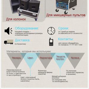 Кейсы для звукового оборудования под ЗАКАЗ (микшеры,  усилители)