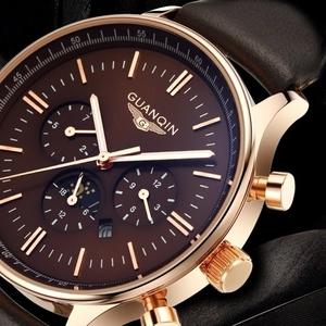 Кварцевые часы от люксового бренда GUANQIN